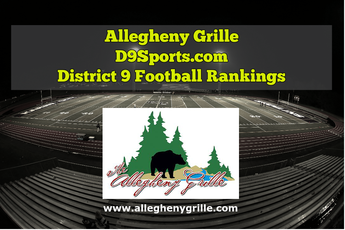 Brockway Remains Strong at a tie for No. 2 in Allegheny Grille of Foxburg D9Sports.com Football Rankings