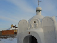 Say What?!: Siberian Man Builds His Village a Church Out of Snow