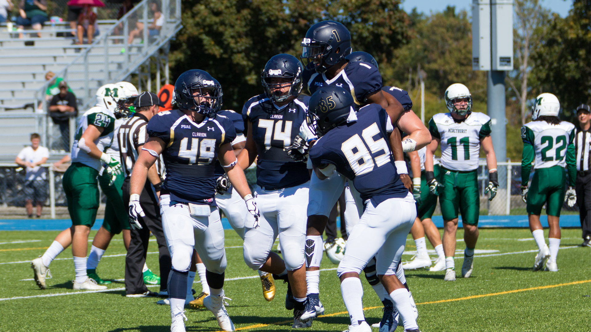 Golden Eagles Battle Mercyhurst Hard but Late Interception Ends Victory Hopes