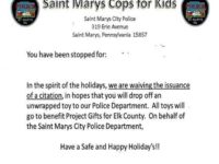 Say What?!: City Waiving Minor Traffic Citations to Encourage Toy Donations