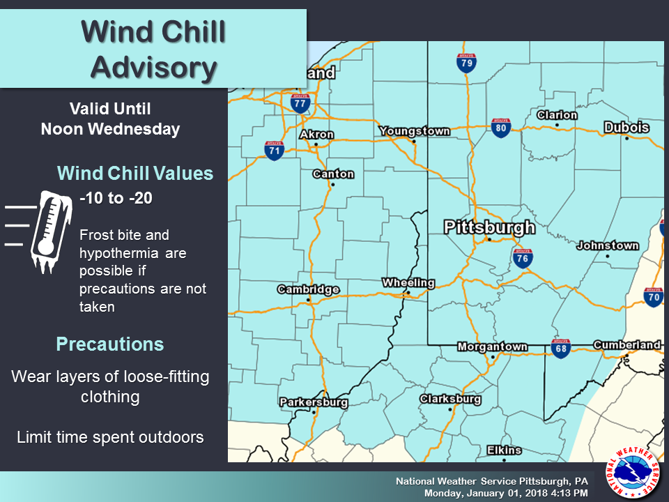Weather Alert Wind Chill Advisory Remains In Effect For