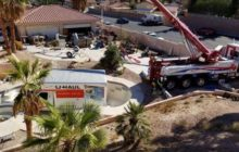 Say What?!: U-Haul Truck Hoisted Out of Empty Las Vegas Pool