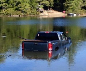 Police-Dog-rescued-after-driving-owners-pickup-into-lake
