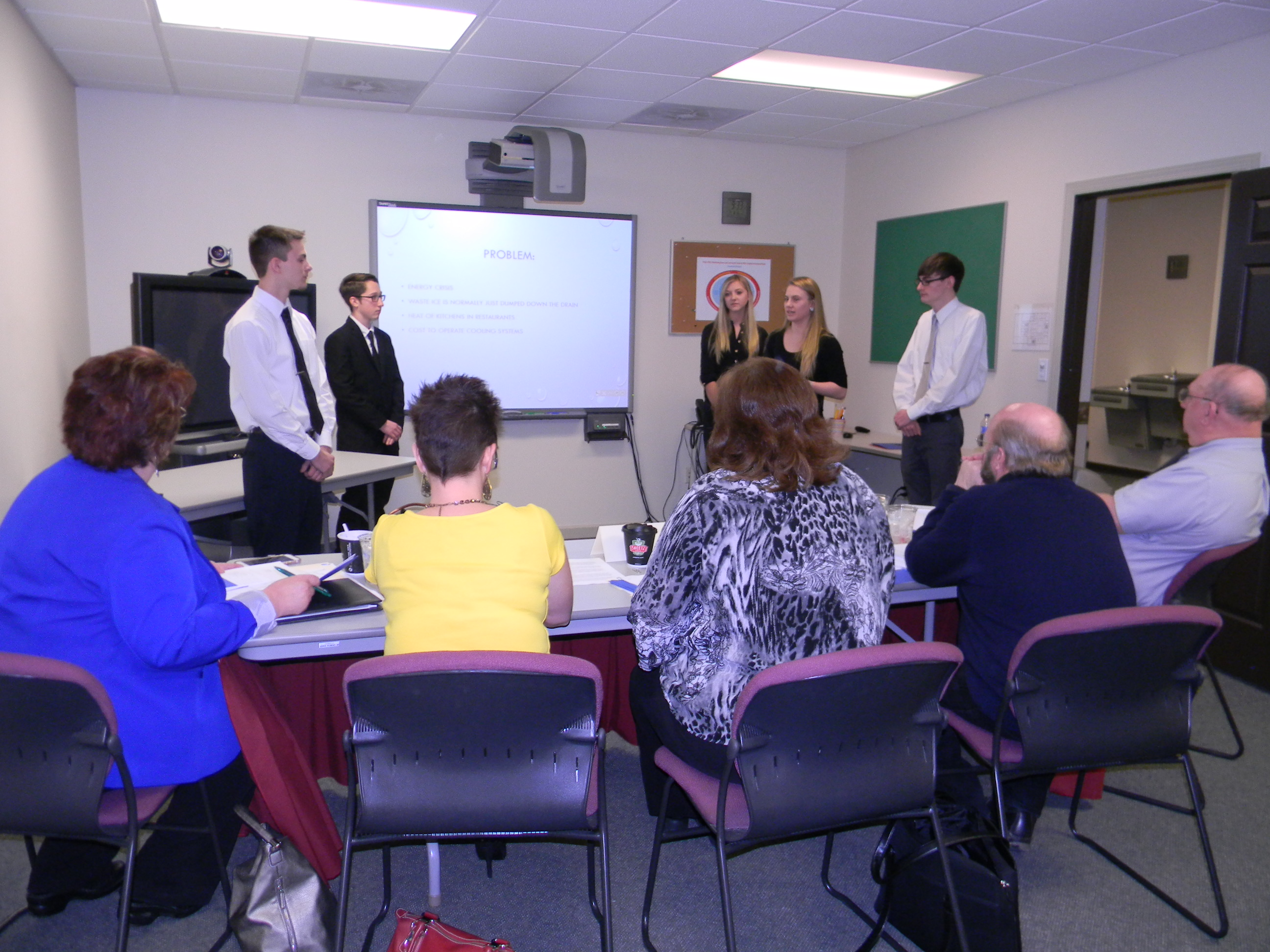 DuBois delivers their presentation to the judging panel.