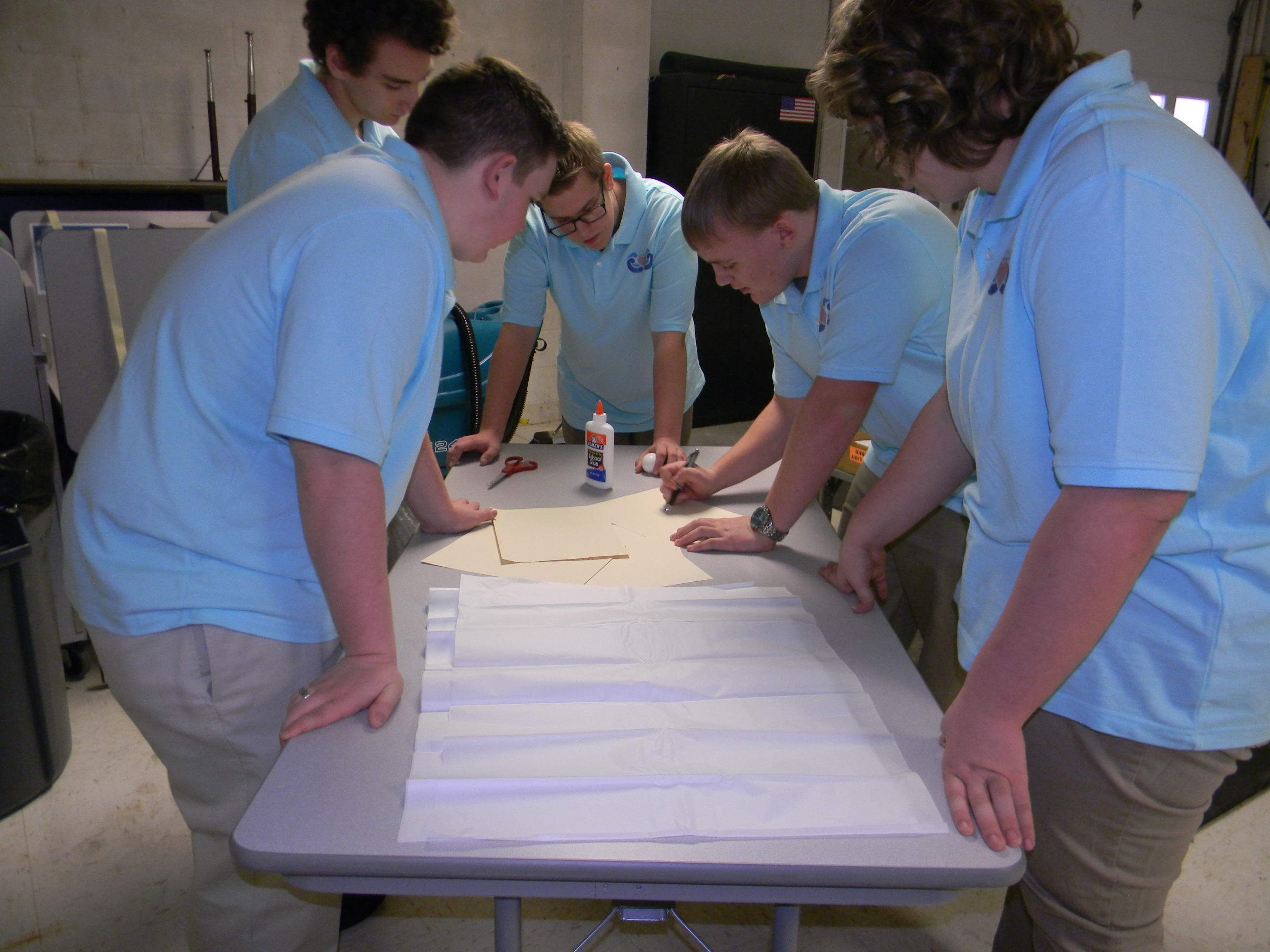 Redbank Valley students begin the design process during the project-in-a-box.