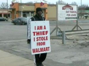 Ohio-man-holds-I-am-a-thief-sign-to-avoid-jail-after-stealing-from-Walmart