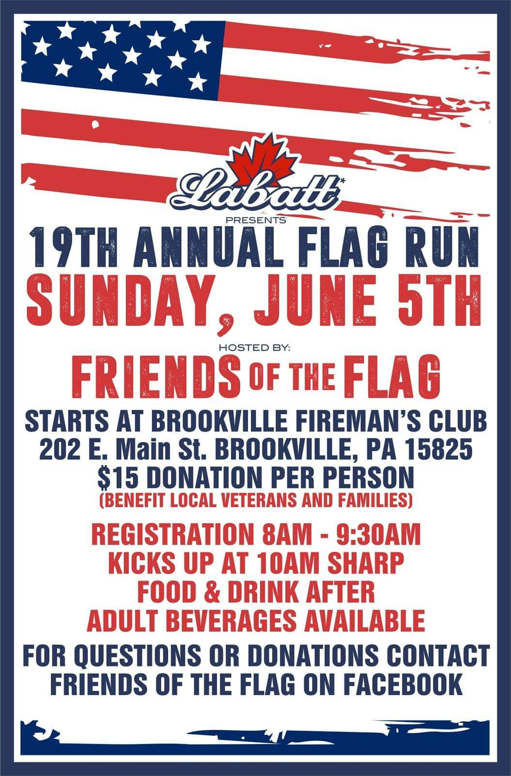 Friends of the Flag flyer