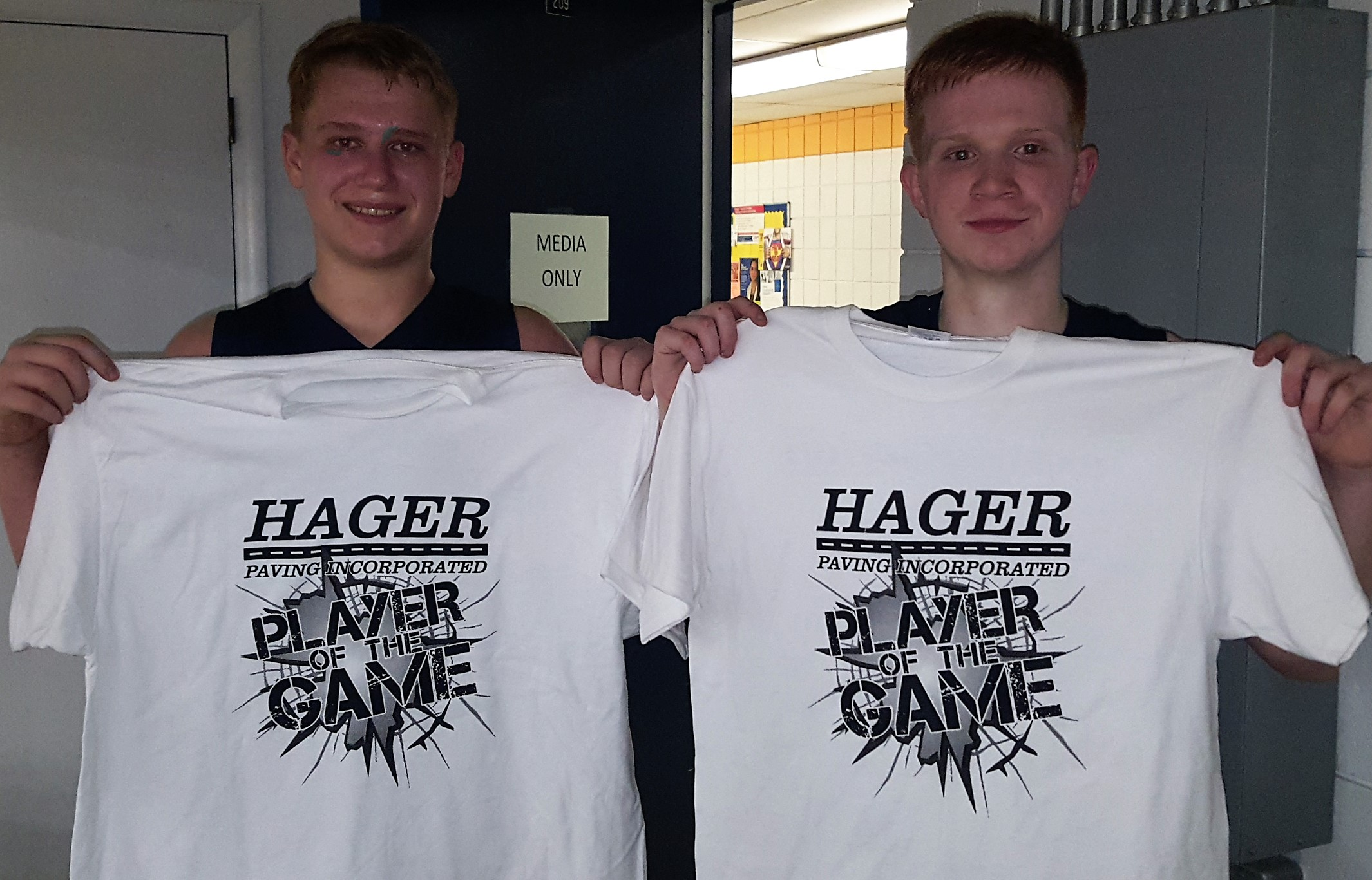Aaron Park Jimmy Moore Hager Paving Players of the Game