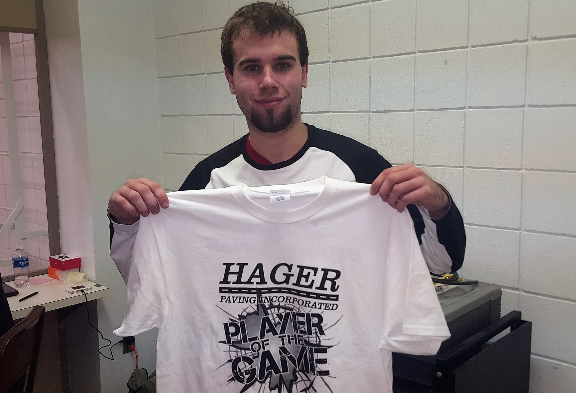 Jake Wineberg Hager Paving Player of the Game