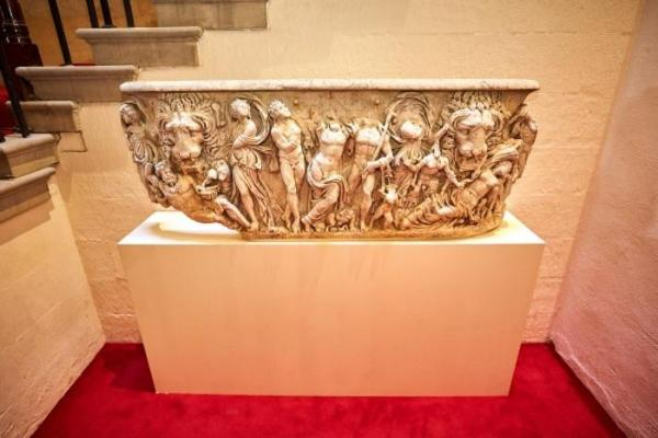 Ancient-Roman-coffin-used-as-flowerpot-for-centuries-restored