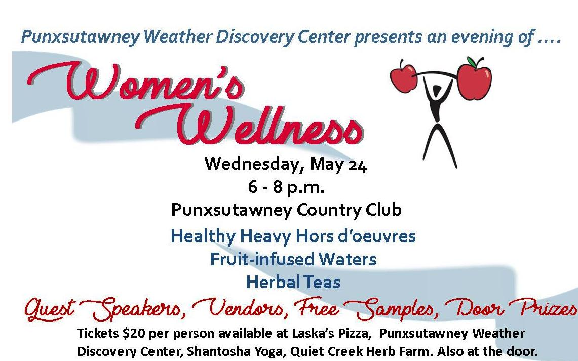 women's wellness postcard