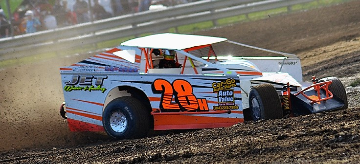 Jimmy Holden will be looking for his fourth consecutive win this Saturday at Mercer Raceway Park