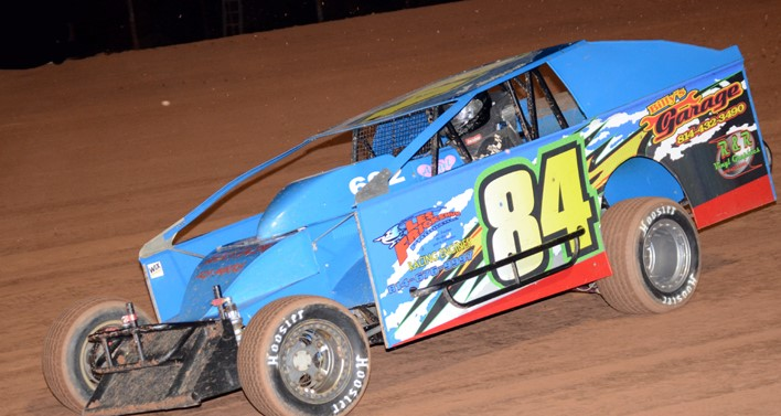 Josh Seippel of Oil City recorded his first career win in the RUSH modifieds Sunday at Tri-City. Photo by Rick Rarer