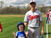 Brockway's Foradori Bonds with Pre-Schooler Who Throws Out First Pitch at Rovers Game