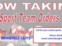SPONSORED: Embroidery and Printing by Brookville Glove Now Taking Orders
