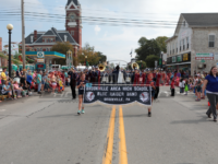 Brookville Area High School Blue Raider Marching Band Places in Clarion Hospital Tournament of Leaves Parade