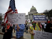 Hundreds Gather at Capitol in Harrisburg for Anti-Shutdown Rally Calling to 'Reopen' Pennsylvania