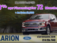SPONSORED: New Inventory is Rolling in at Clarion Ford